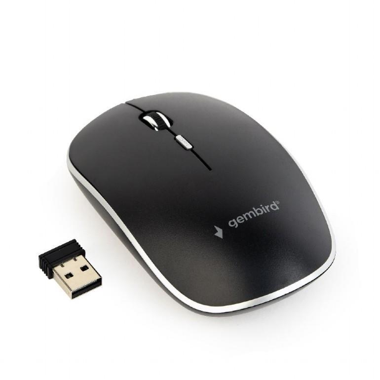MOUSE USB OPTICAL WRL/BLACK MUSW-4B-01 GEMBIRD