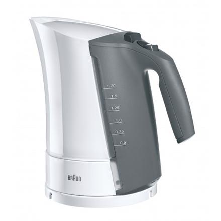 6d23ca20816 Braun WK 300 Standard kettle, Plastic, White, 2200 W, 360° rotational base,  1.7 L