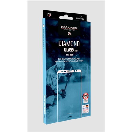 MyScreen Diamond glass edge Full Glue Screen protector, Huawei, P30, Tempered glass, Transparent/Black