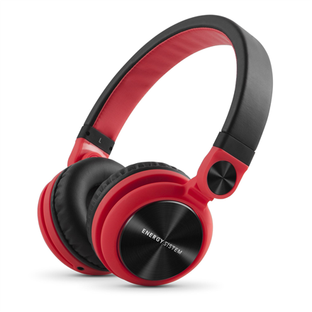 Energy Sistem Headphones DJ2 (Foldable, Detachable cable) 3.5 mm, Headband/On-Ear, Red,