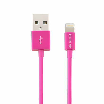 Kanex Laadimis ja Andmeedastus kaabel USB -> Lightning 1,1m Roosa 1tk