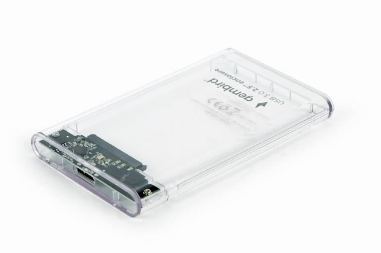 "HDD CASE EXT. USB3 2.5""/TRANSPARENT EE2-U3S9-6 GEMBIRD"