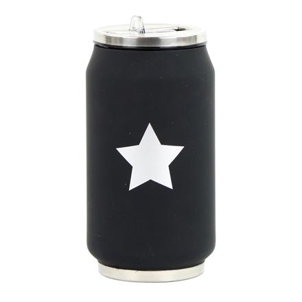 Yoko Design 1378/7819 Isothermal tin can, Black/ white, Capacity 0.28 L,