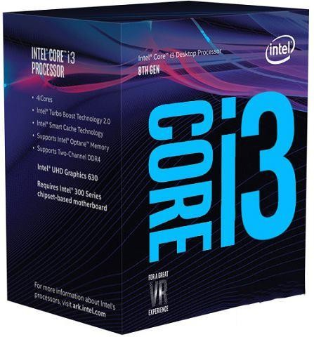 CPU|INTEL|Core i3|i3-9100|Coffee Lake|3600 MHz|Cores 4|6MB|Socket LGA1151|65 Watts|GPU UHD 630|BOX|BX80684I39100SRCZV