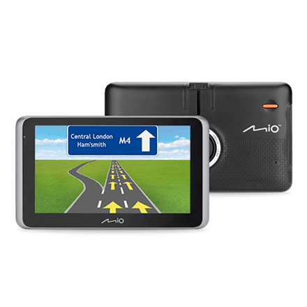 """Mio Truck navigation MiVue Drive 65 6.2"""" touchscreen, Bluetooth, GPS (satellite), Traffic Message Channel (TMC), Maps included"""