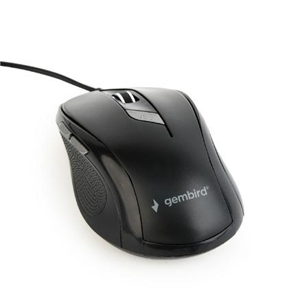 Gembird MUS-6B-01 Optical mouse, Black