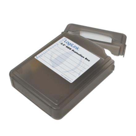 "LOGILINK UA0133B , 3,5"" HDD protection box for 1 HDD, black Logilink LogiLink UA0133B Protection Box for 3.5 Inch Hard Disk Drive Black"