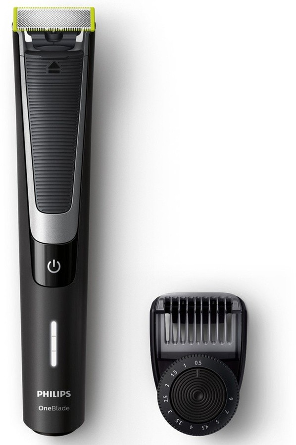 Philips OneBlade Pro Shaver QP6510/20 Charging time 1 h, Wet use, Lithium Ion, Number of shaver heads/blades 1, Black/Silver