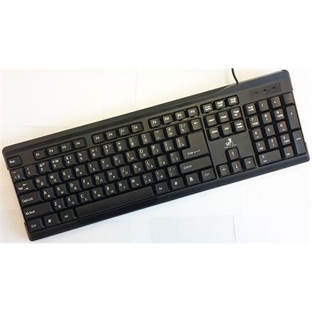 Super power Keybord KB-2019 Black, USB, EN/RU layout, Silk Printing Super power Standard, Wired, Keyboard layout EN/RU
