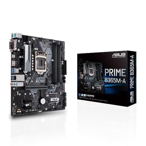 Mainboard ASUS Intel B365 Express LGA1151 MicroATX 2xPCI-Express 3.0 1x 1xPCI-Express 3.0 16x 2xM.2 Memory DDR4 Memory slots 4 1x15pin D-sub 1xDVI 1xHDMI 4xUSB 3.1 1xUSB type C 2xPS/2 1xRJ45 3xAudio port PRIMEB365M-A