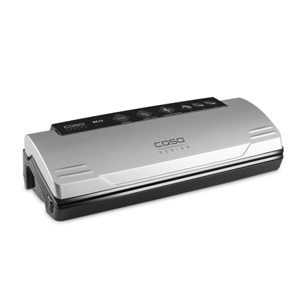 Caso Vacuum sealer VC11 Automatic, Stainless steel, 120 W, Film Box, Incl. 10 top-quality bags (20 x 30 cm)