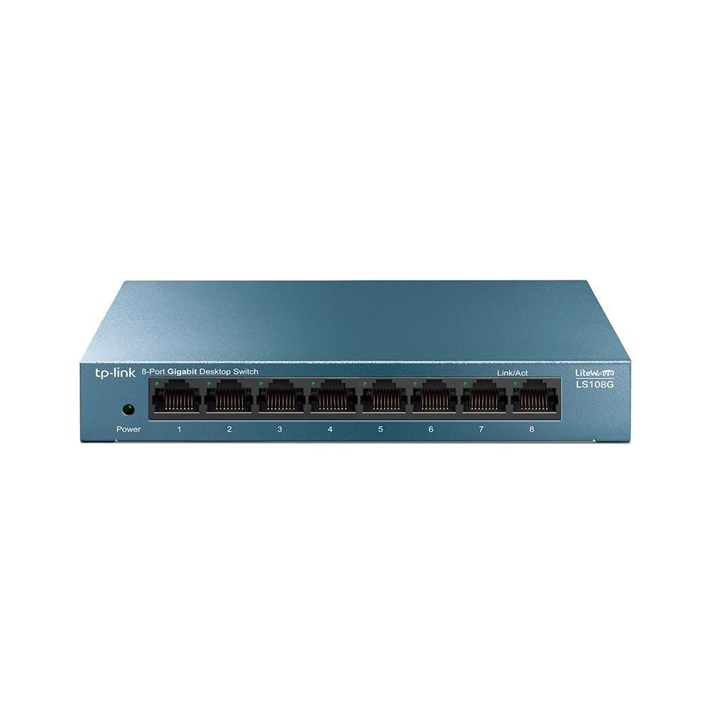 TP-LINK LS108G võrgulüliti Mittejuhitav Gigabit Ethernet (10/100/1000) Sinine
