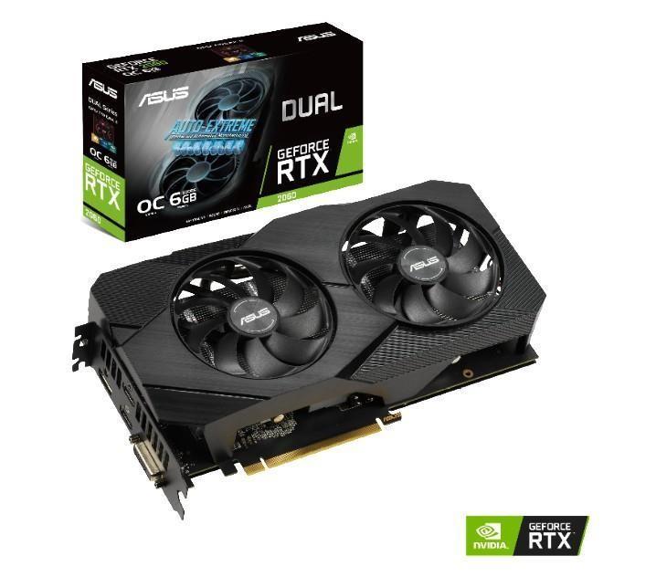 ASUS Dual -RTX2060-O6G-EVO graafikakaart NVIDIA GeForce RTX 2060 6 GB GDDR6