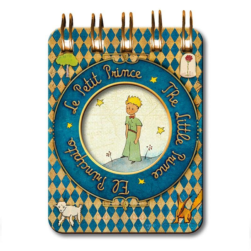 Märkmeplokk spiraalköites LE PETIT PRINCE Etoiles, 60x80 mm, kõvad kaaned, sinine