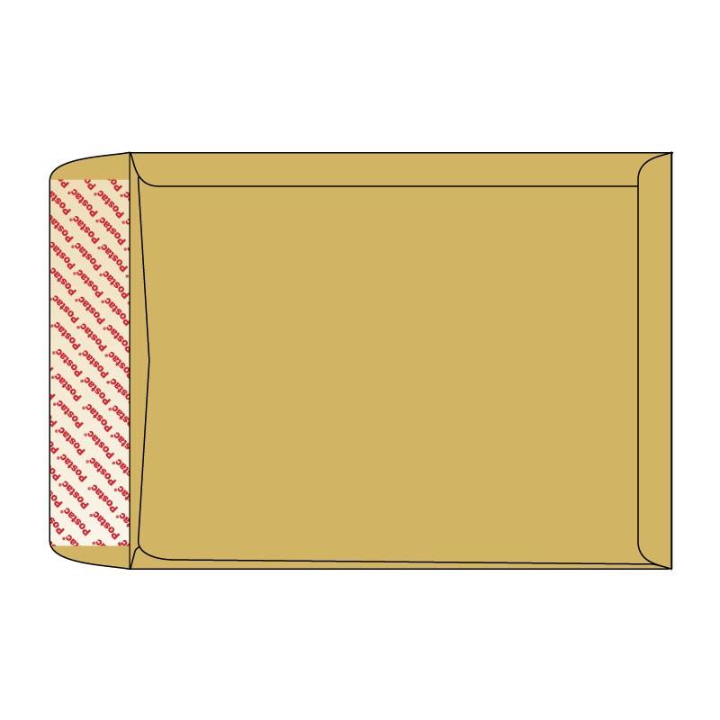 Kirjakotid lõõtsaga B4, 250x353x40mm, 130g pruun
