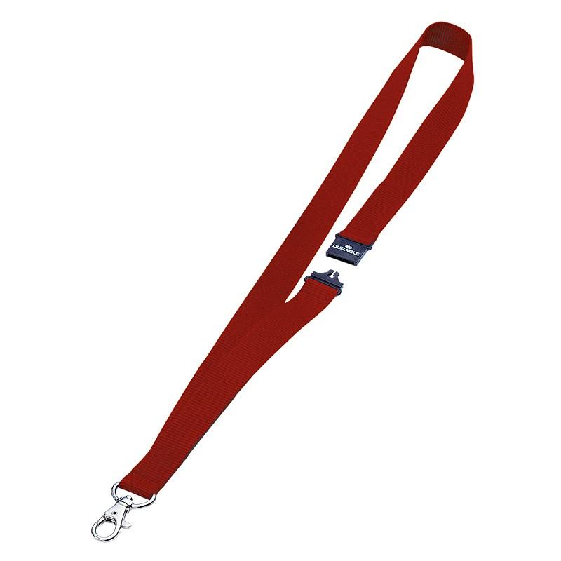 Tekstiilpael Durable 20mm/44cm turvakinnitus, punane, 10tk