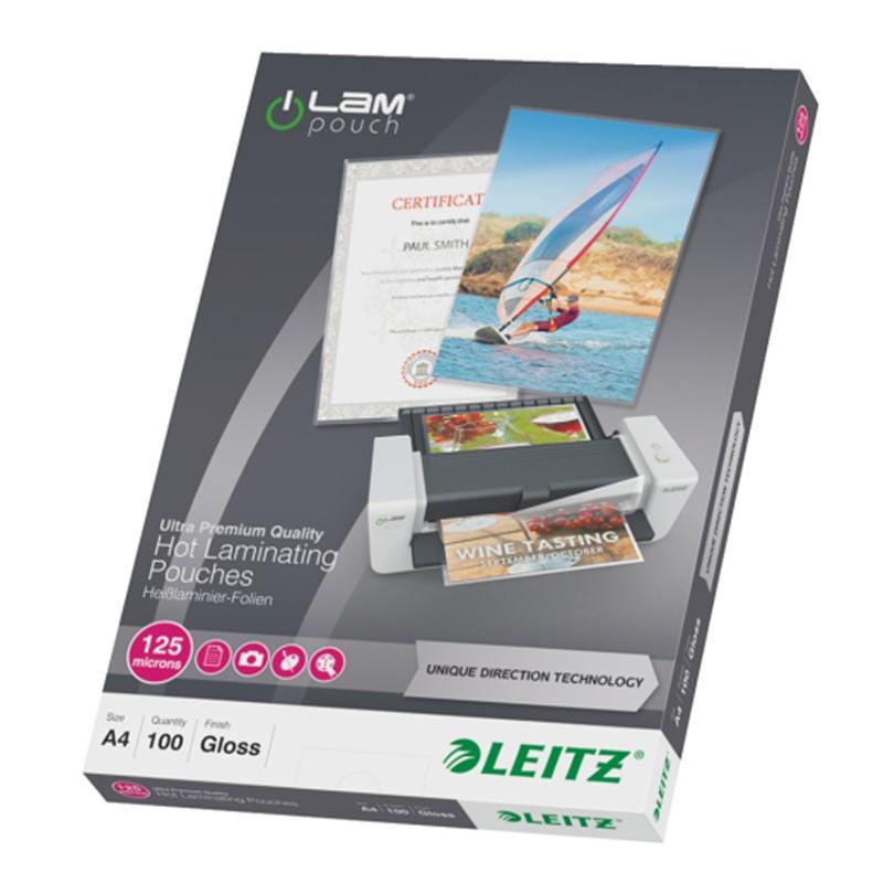 Lamineerimistaskud Leitz UDT A4, 125mic, 100tk