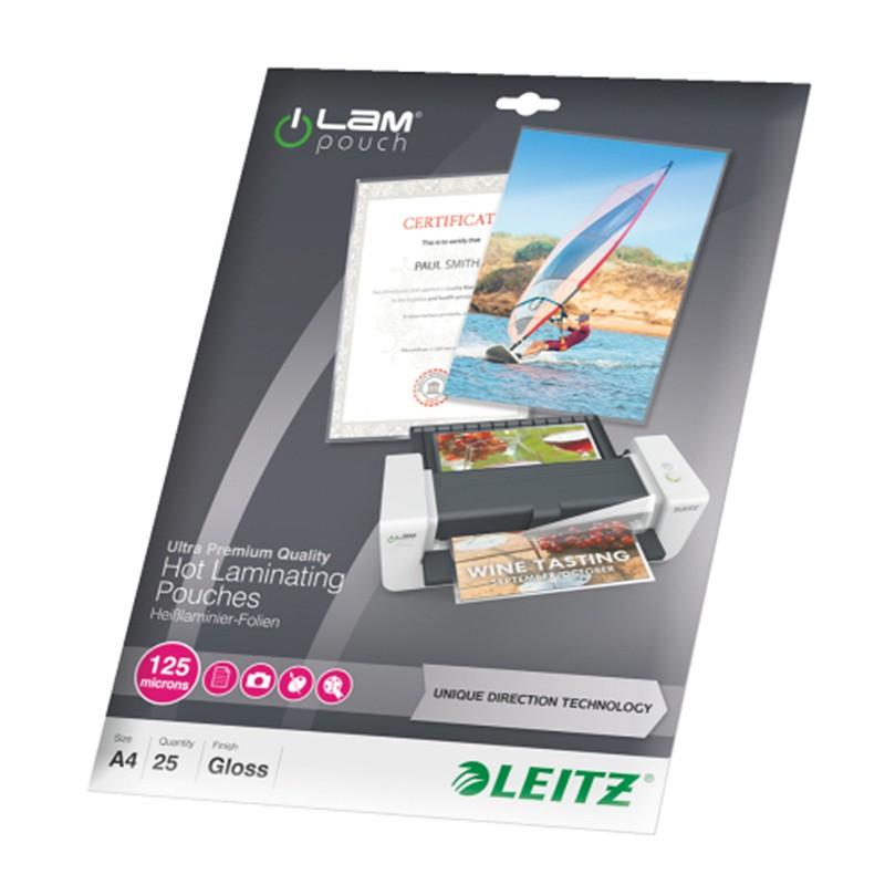 Lamineerimistaskud Leitz UDT A4, 125mic, 25tk