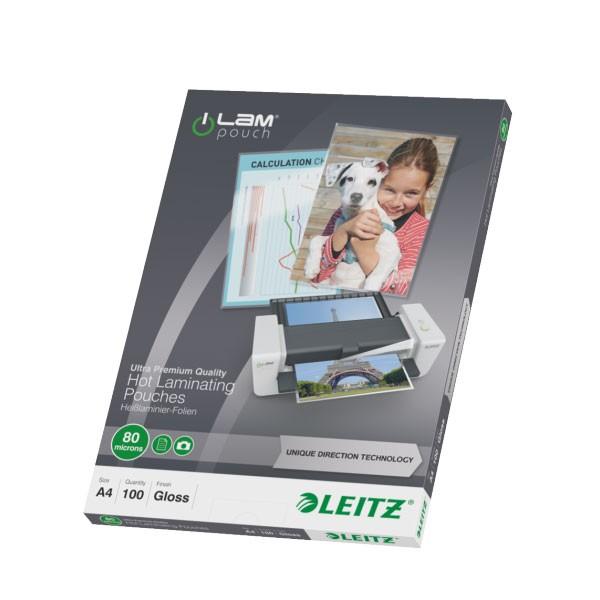 Lamineerimistaskud Leitz UDT, A4 80mic, 100 tk