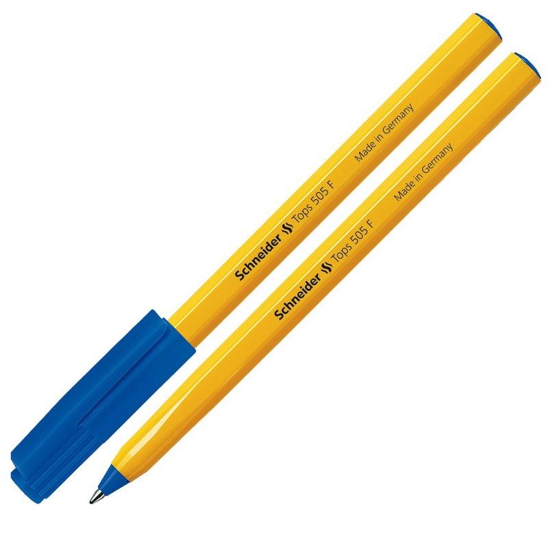 Pastapliiats Schneider Tops  505F 0.7mm korpus kollane/tint sinine