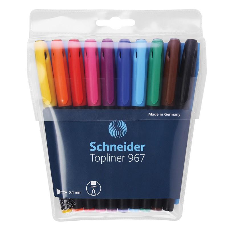 Tindipliiats Schneider Topliner 967, fiiberotsik, joon 0,4mm, 10tk