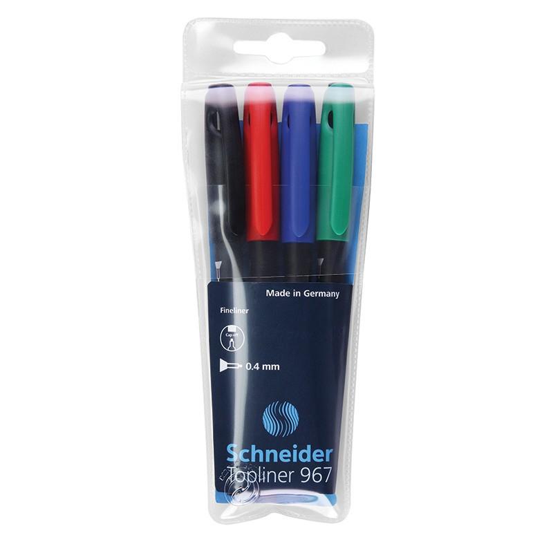 Tindipliiats Schneider Topliner 967, 0.4mm, 4värvi/komp