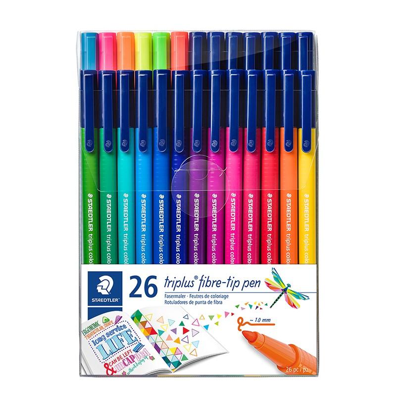 Viltpliiatsid STAEDTLER Briliant Triplus Colours, 26 värvi