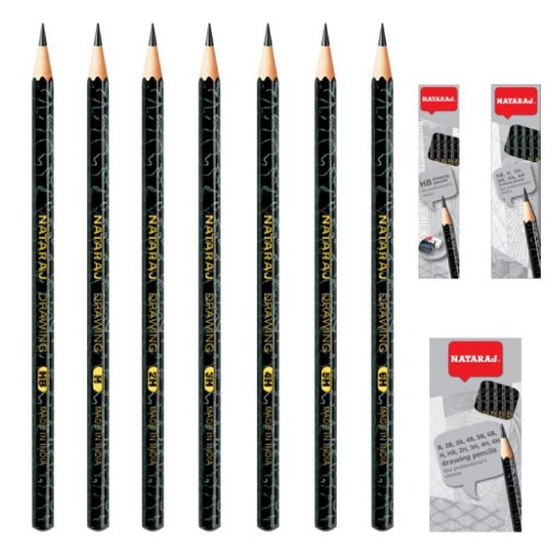 Harilik pliiats NATARAJ 3B, teritatud, 12 tk