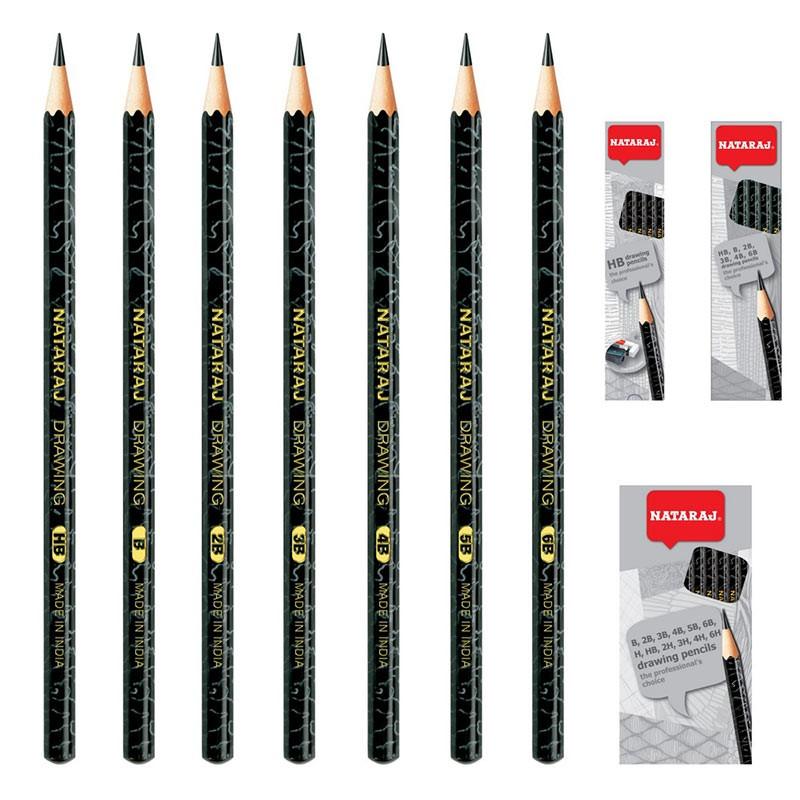 Harilik pliiats NATARAJ Artist, 6 tk komplekt
