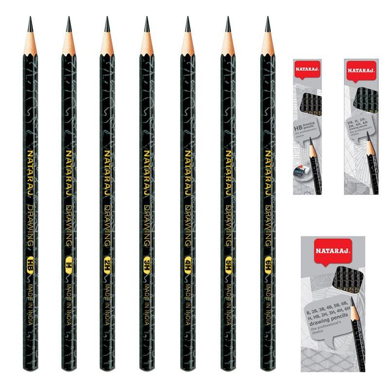 Harilik pliiats NATARAJ Architect, 6 tk komplekt