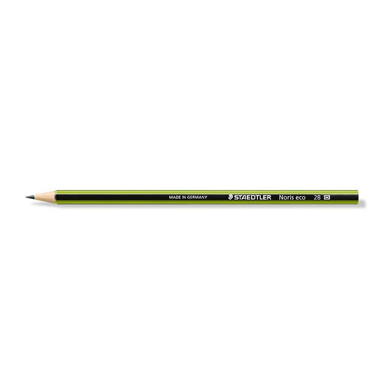 Harilik pliiats Staedtler Noris Eco 180 2B, roheline korpus