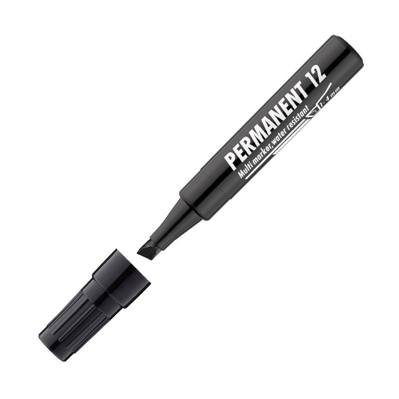 Marker permanentne ICO 12, 1-4mm, lõigatud, must