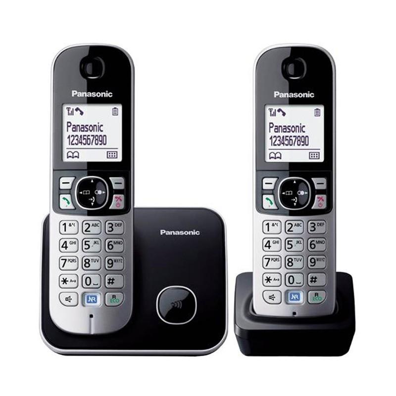 Juhtmeta telefon PANASONIC KX-TG6812FXB, must