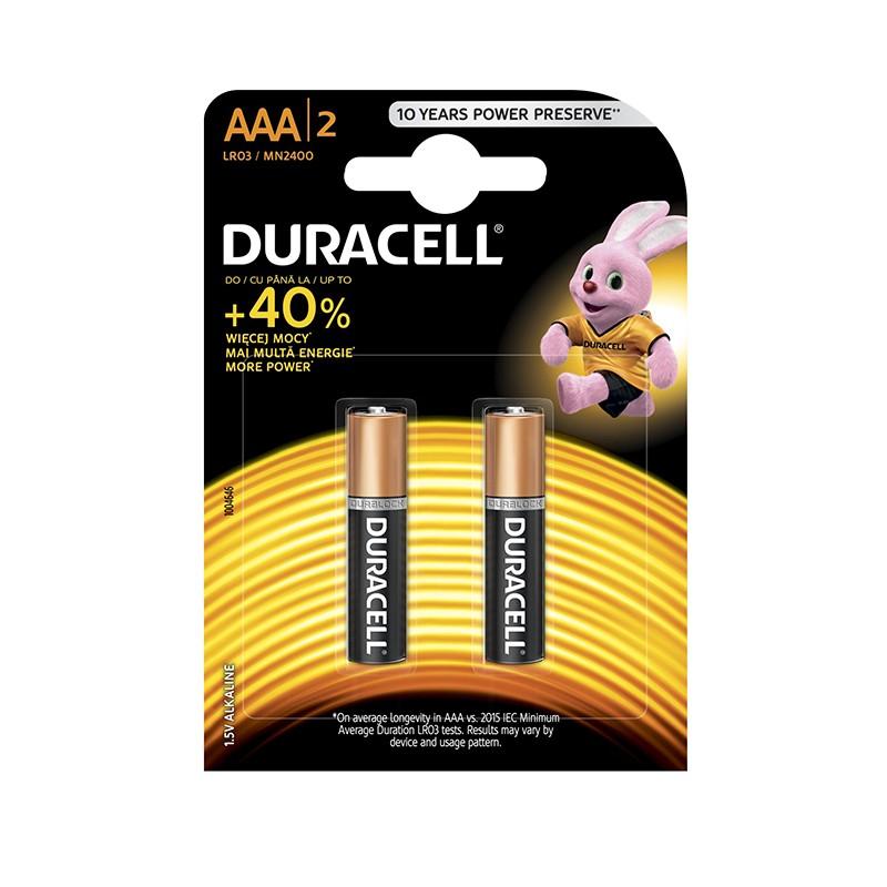 Patarei Duracell AAA LR03, 2 tk.