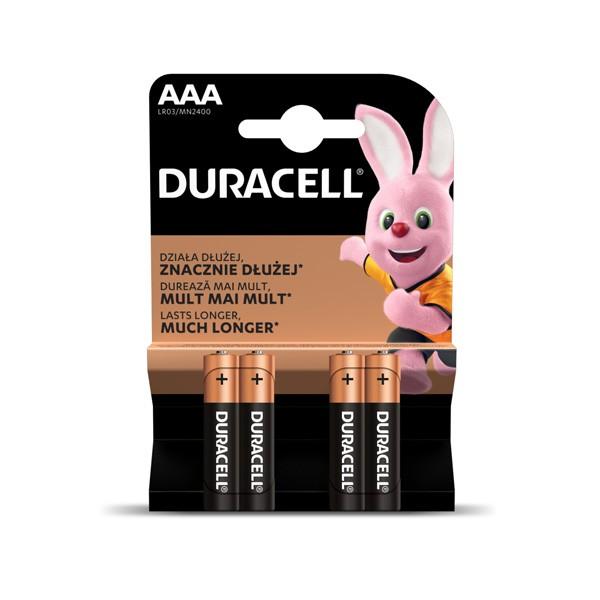 Patarei Duracell AAA (LR03), 4 tk