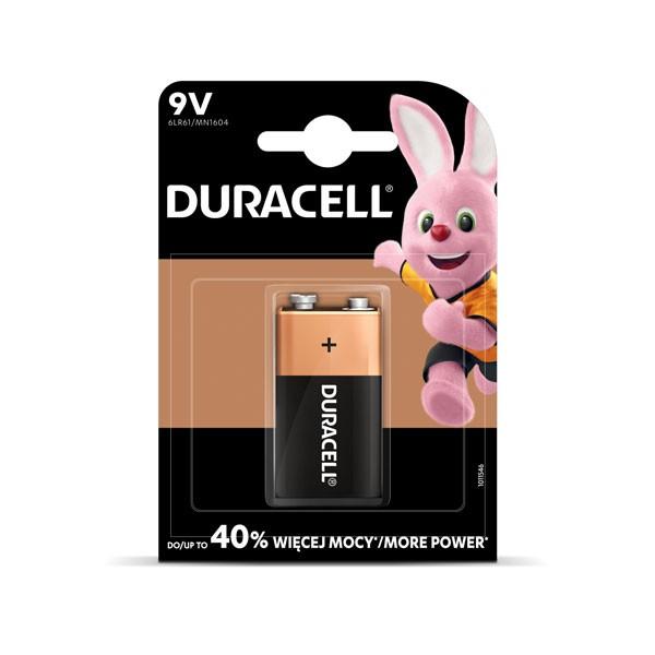 Patarei Duracell 9V, 6LR61, 1 tk/pk korona