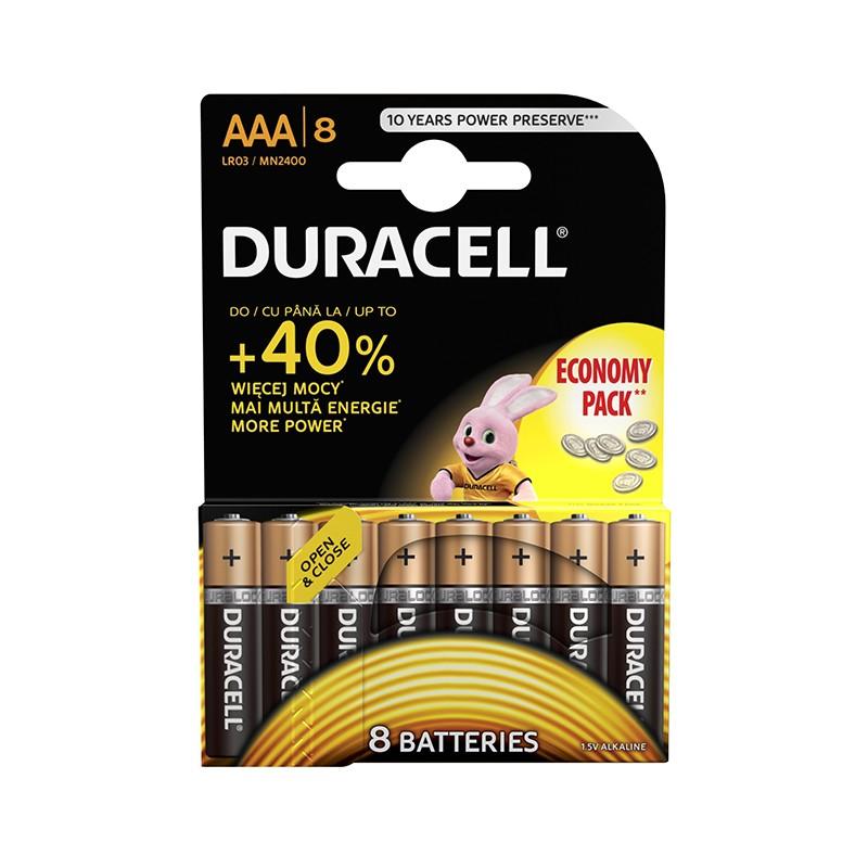 Patareid Duracell AAA LR03, 8 tk