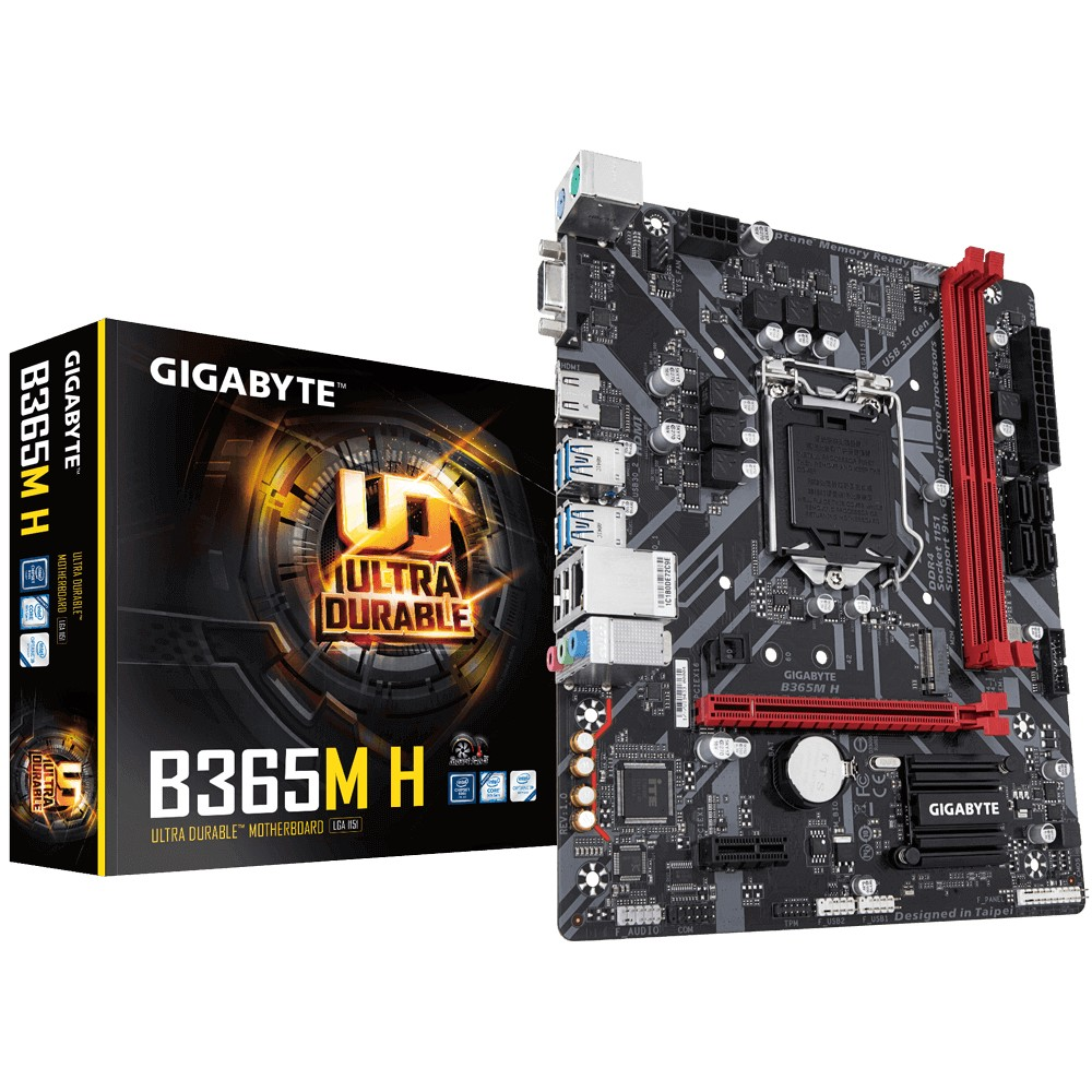 Gigabyte B365M H Processor family Intel, Processor socket LGA1151, DDR4 DIMM, Memory slots 2, Number of SATA connectors 4 x SATA 6Gb/s connectors, Chipset Intel B, Micro ATX