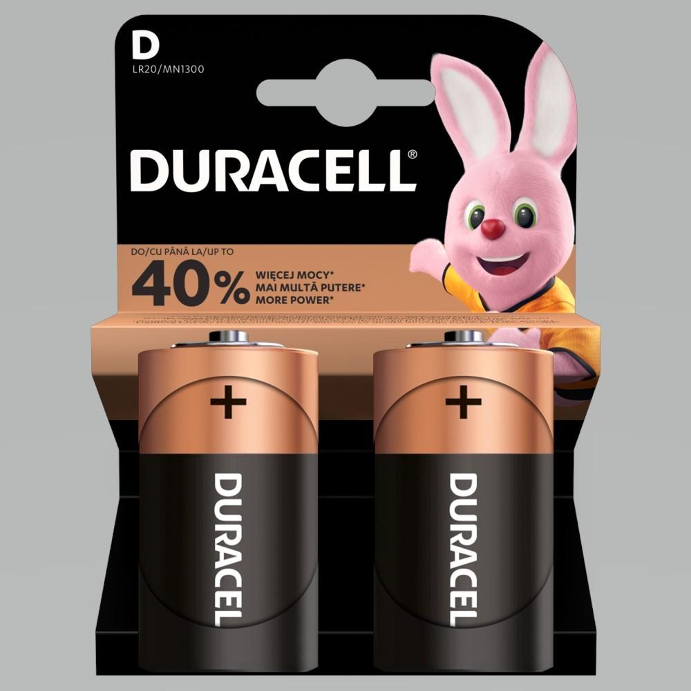 Patareid Duracell D LR20 (2 tk)