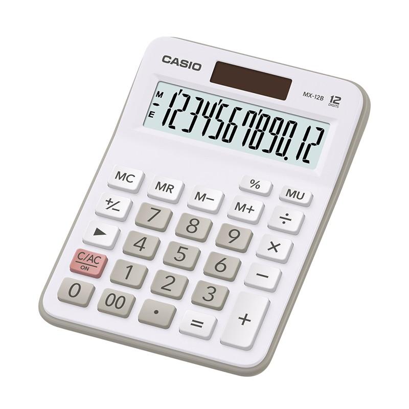 Kalkulaator CASIO MX-12B, valge