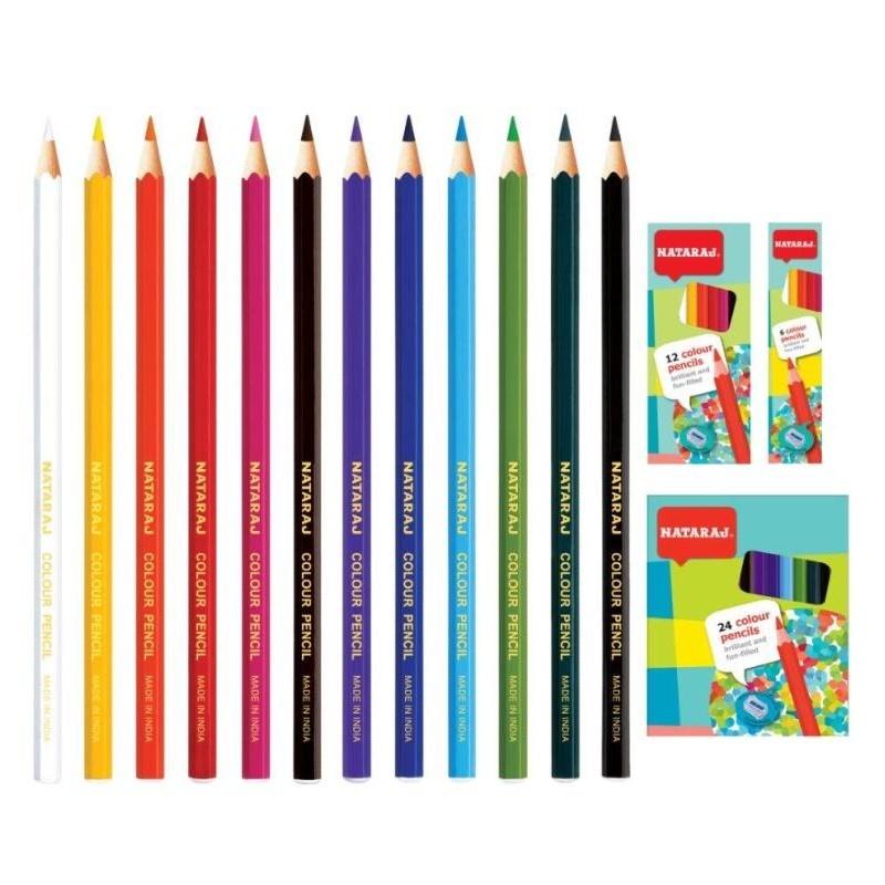 Värvipliiatsid Nataraj, 24 värvi