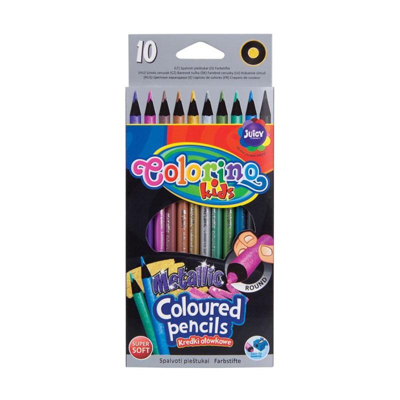 Värvipliiatsid Colorino Mettalic, 10 värvi