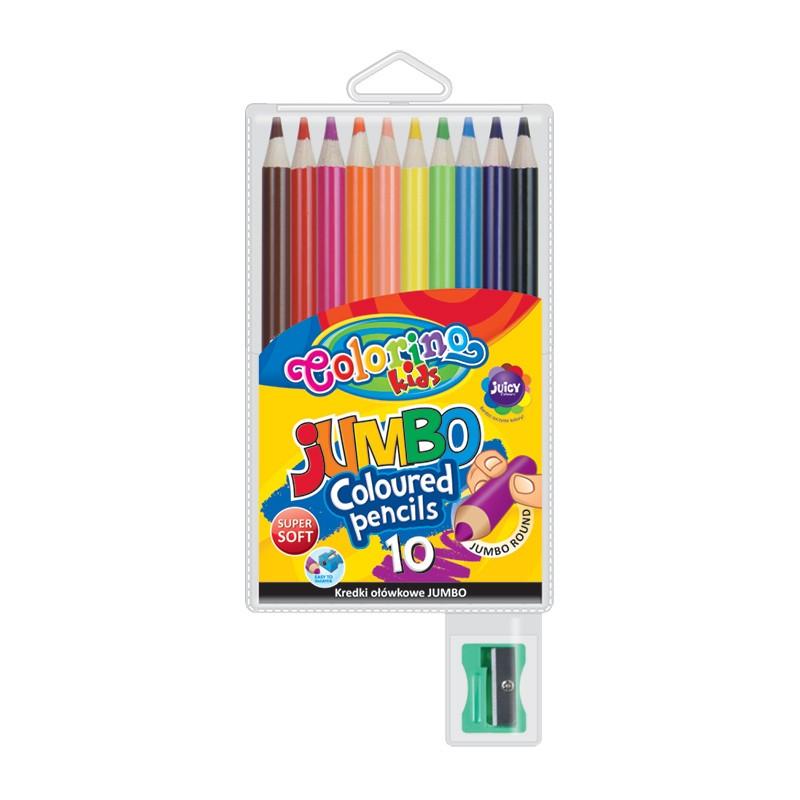 Värvipliiatsid Colorino Kids Jumbo, 10 värvi
