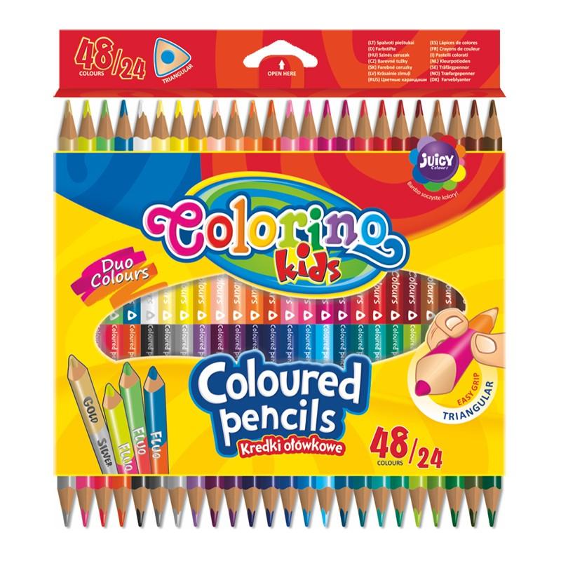 Värvipliiatsid Colorino Kids, kolmnurksed, 48 värvi, 24 tk