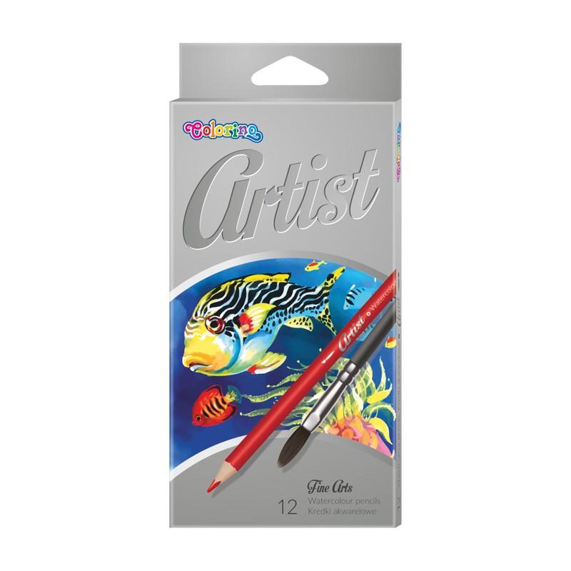 Värvipliiatsid COLORINO Artist, akvarell, 12 värvi