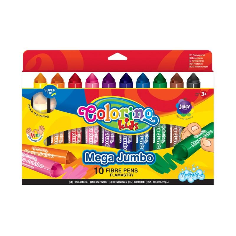 Viltpliiatsid Colorino Mega Jumbo alusel, 10 värvi