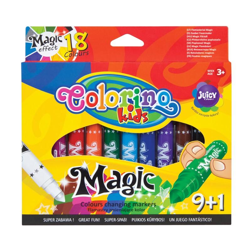 Viltpliiatsid COLORINO Magic, 9+1 värvi