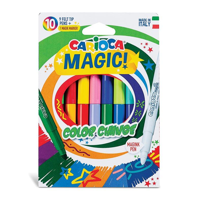 Viltpliiatsid CARIOCA Magic Color Change, 10 värvi