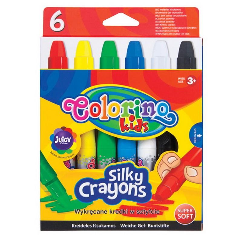 """Vahakriidid Colorino """"Silky"""" 6 värvi"""