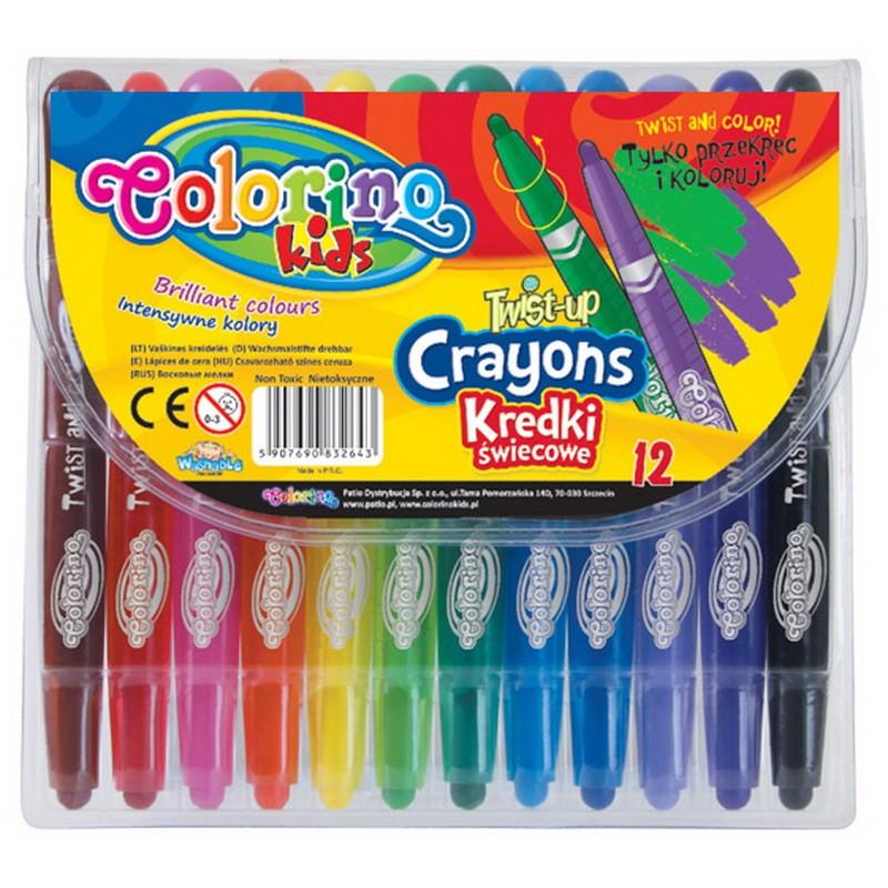 Vahakriidid Colorino Twist, 12 värvi